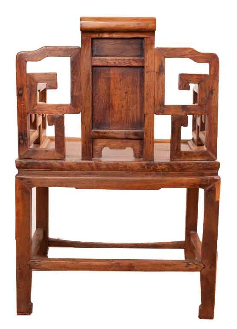 A MING-DYNASTY STYLE HUANGHUALI FAUTEUIL (CHAIR).M022. - 5