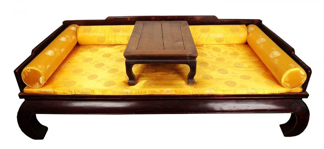 A CHINESE HONGJU WOOD 'LUOHAN BED'