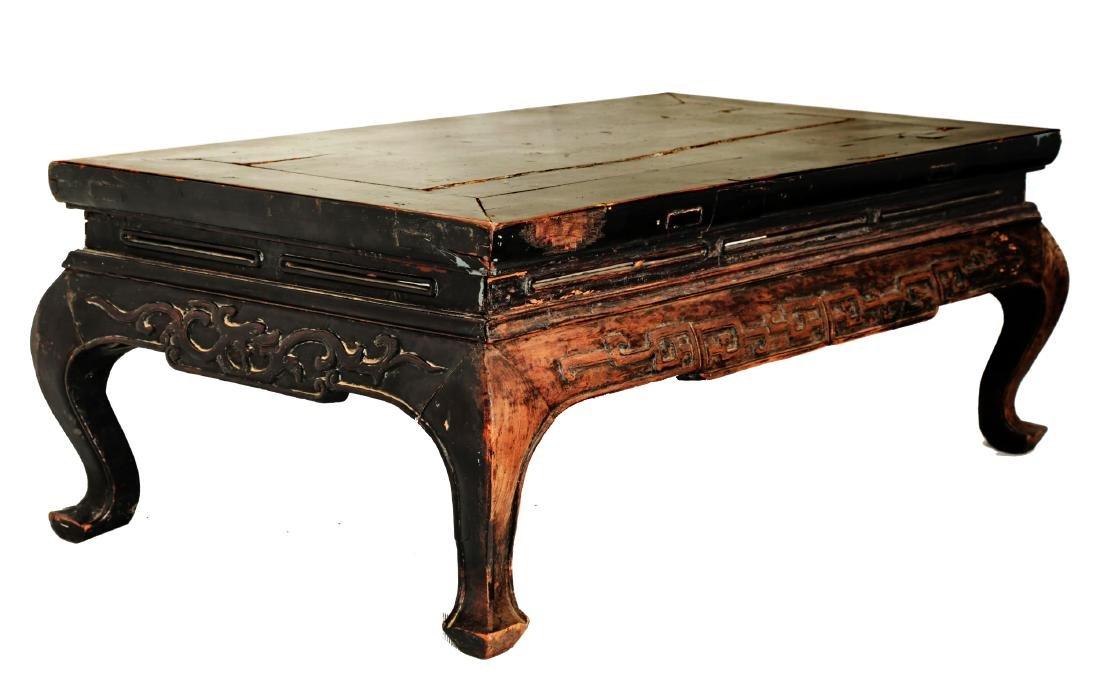 A HUANGHUALIi OR HONGMU   SQUARE KANG TABLE.M006.