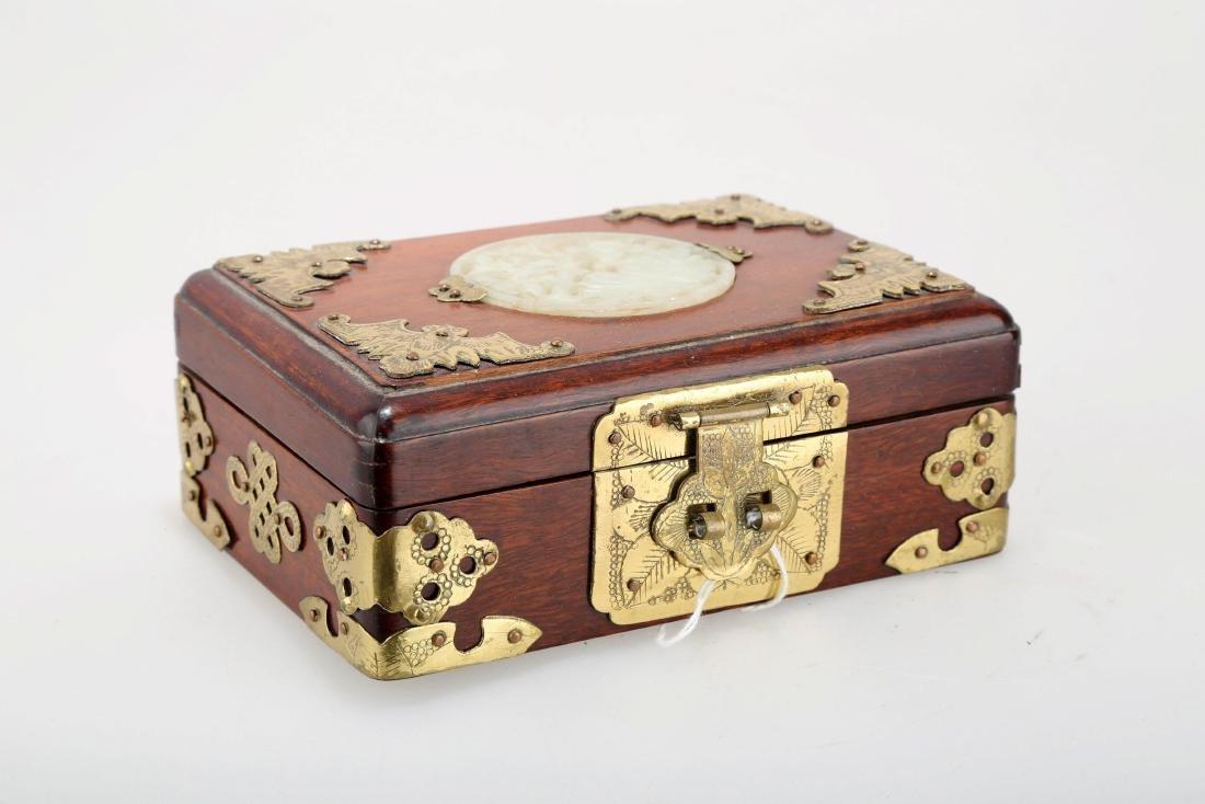 CHINESE HUANGHUALI KEEPSAKE BOX.M025.