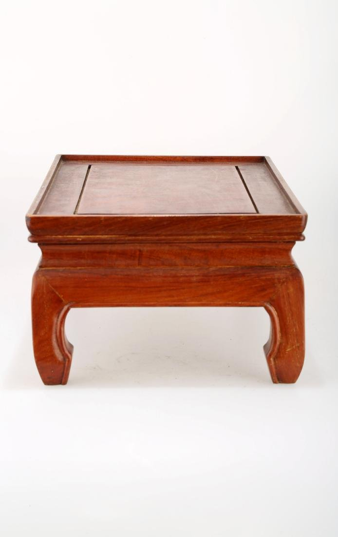 A ROSE WOODEN TEA TABLE.M026. - 3