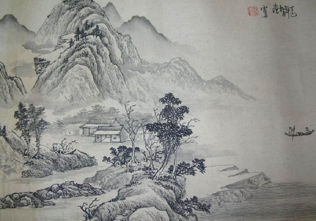 SIGNED LEI DAN.A QING DYNASTY INK AND COLOR ON PAPER - 4