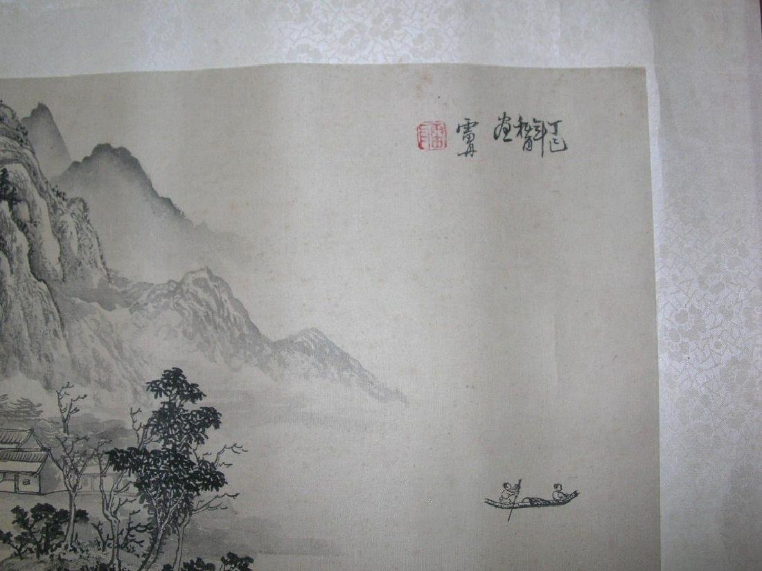 SIGNED LEI DAN.A QING DYNASTY INK AND COLOR ON PAPER - 5