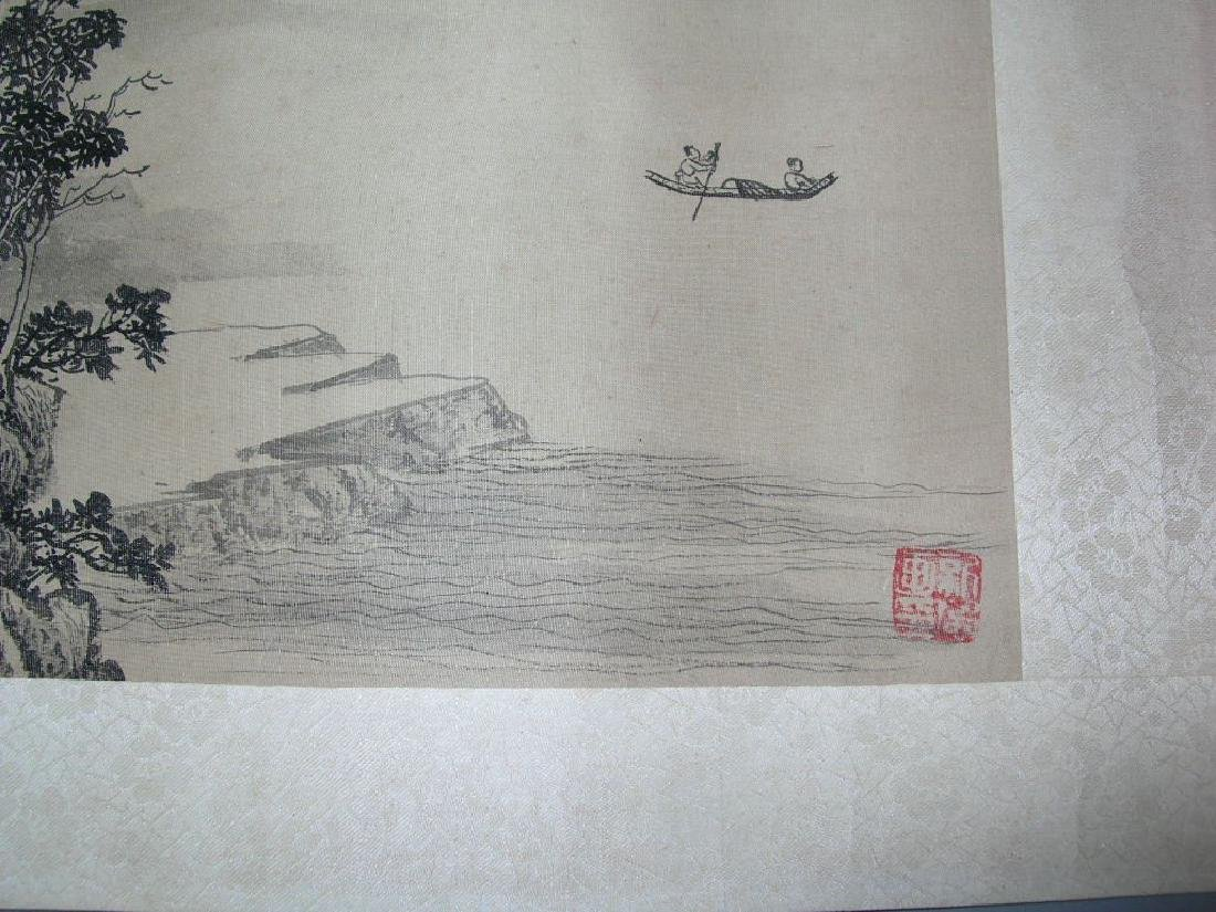 SIGNED LEI DAN.A QING DYNASTY INK AND COLOR ON PAPER - 6