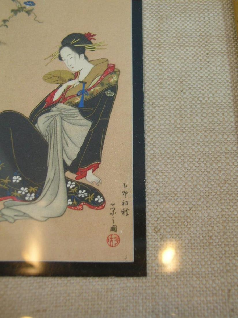 (3)  A PAIR OLD JAPANESE PAINTINGS. FRAMED.H240. - 9