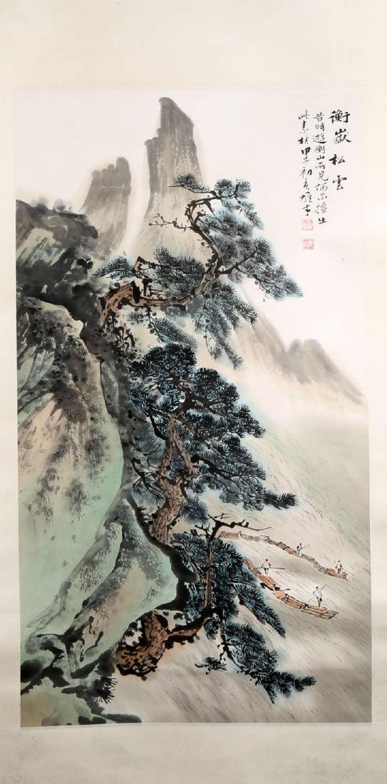 SIGNED LI XIONGCAI (1910-2001). A INK AND COLOR ON