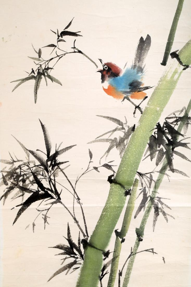 SIGNED HUANG HUANWU (1906-1985). A INK AND COLOR ON - 3