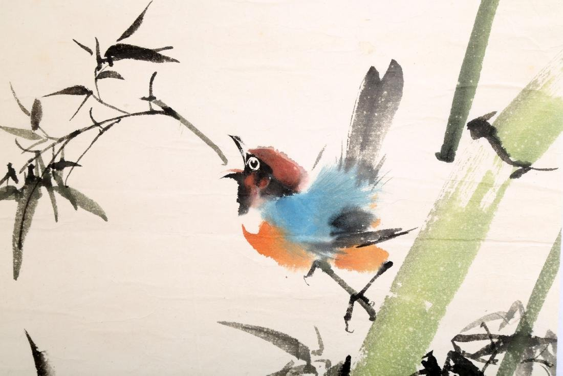 SIGNED HUANG HUANWU (1906-1985). A INK AND COLOR ON - 4