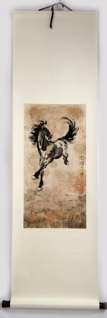 SIGNED XUE BEIHONG (1895-1953). A INK AND COLOR ON - 2
