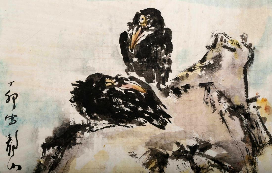 ATTRIBUTED AND SIGNED WU JINGSHAN (1943- ). A INK AND - 3