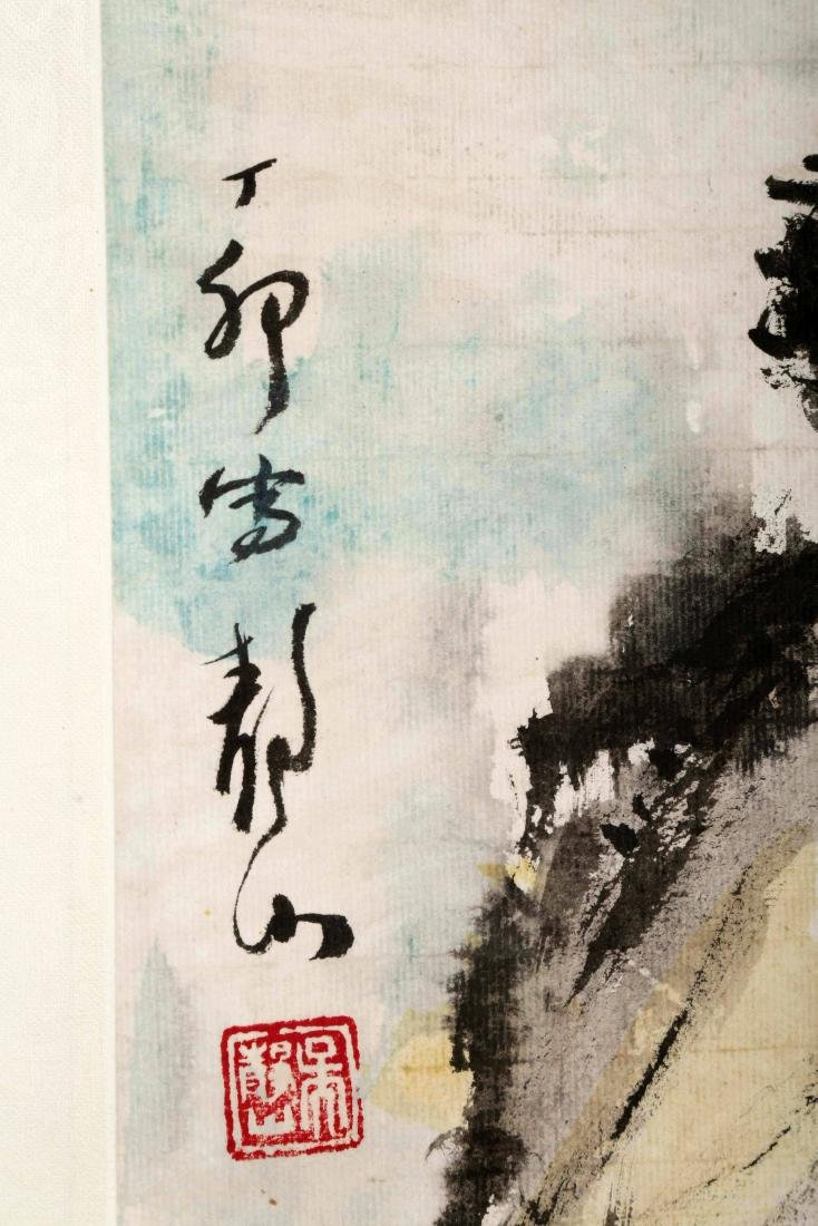 ATTRIBUTED AND SIGNED WU JINGSHAN (1943- ). A INK AND - 6