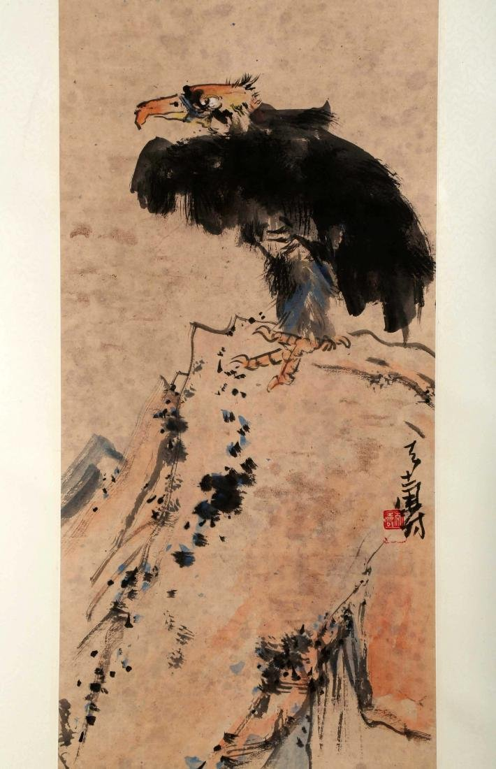 SIGNED PAN TIANSHOU (1897-1971). A INK AND COLOR ON