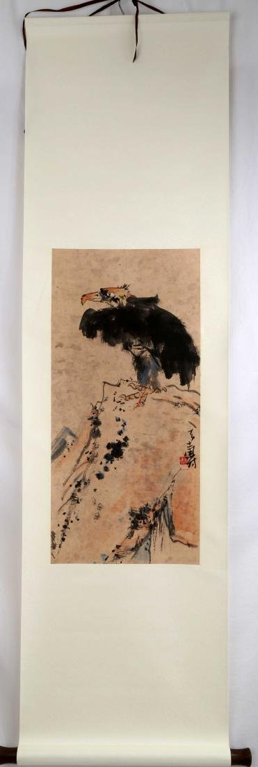 SIGNED PAN TIANSHOU (1897-1971). A INK AND COLOR ON - 2