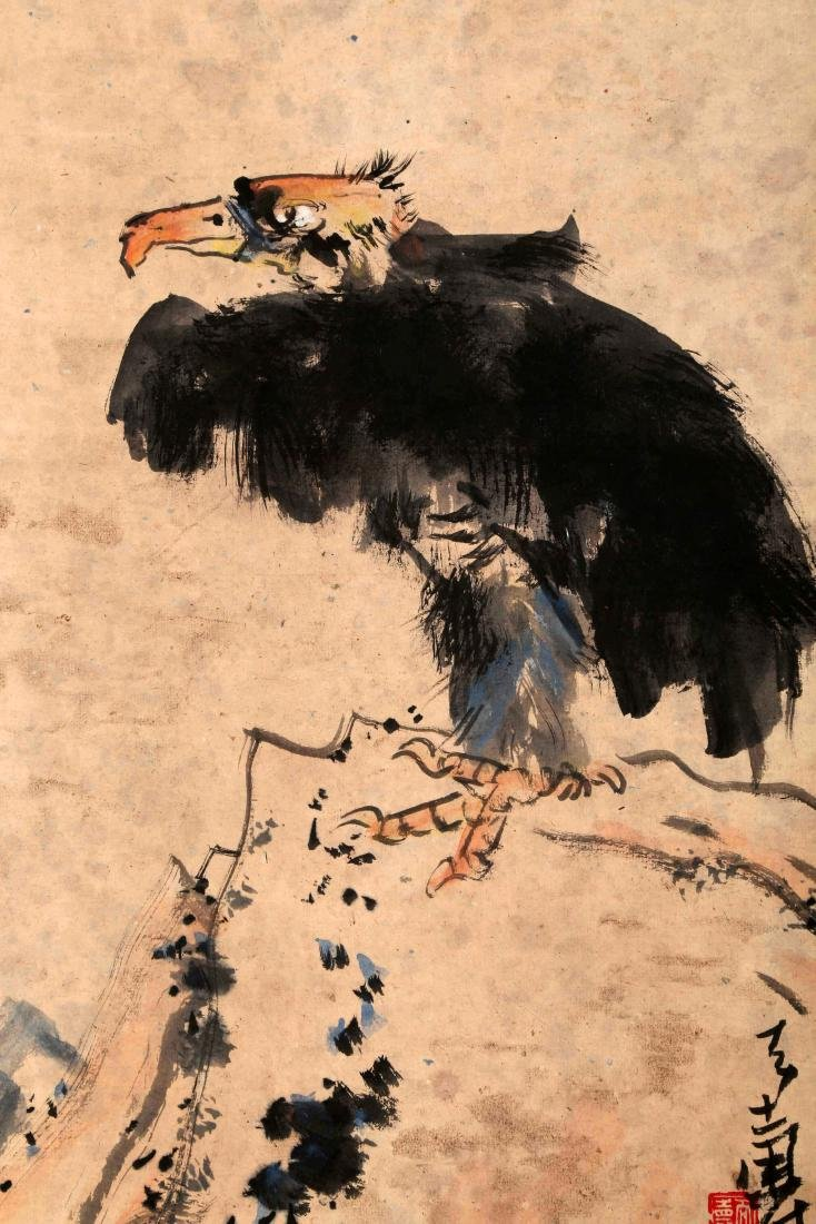 SIGNED PAN TIANSHOU (1897-1971). A INK AND COLOR ON - 3