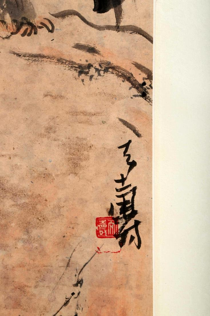 SIGNED PAN TIANSHOU (1897-1971). A INK AND COLOR ON - 6