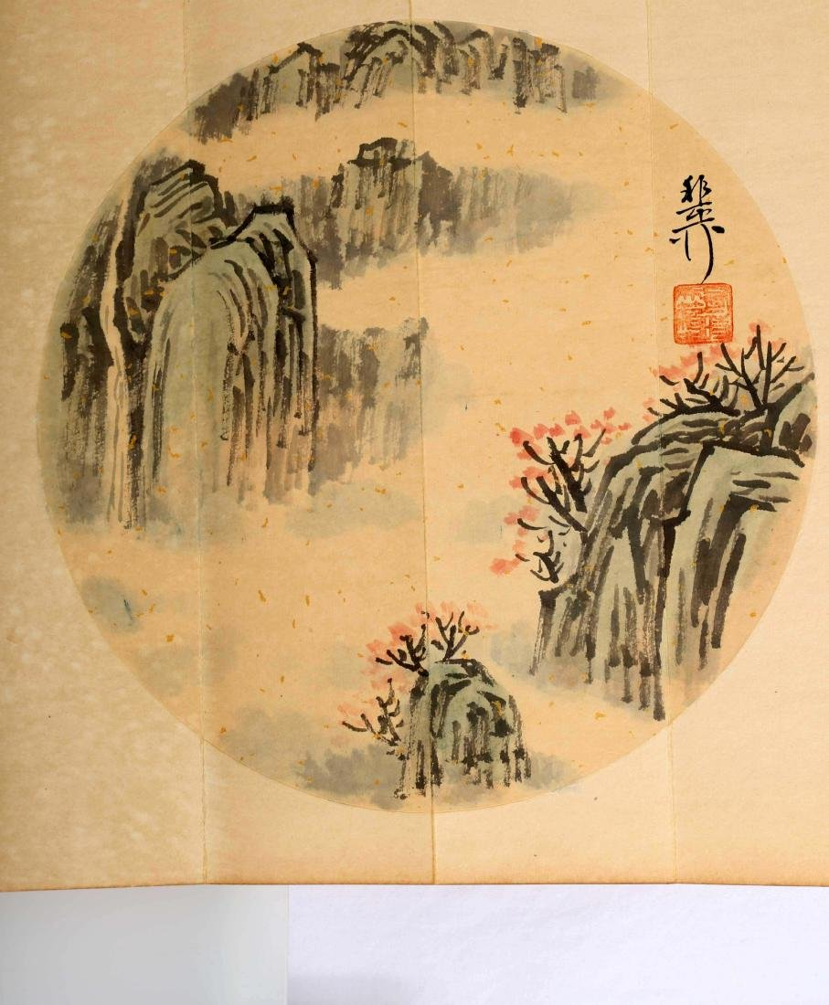SIGNED XIE YALIU. A INK AND COLOR ON PAPER CALLIGRAPHY - 6