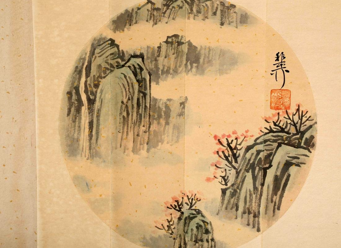 SIGNED XIE YALIU. A INK AND COLOR ON PAPER CALLIGRAPHY - 7