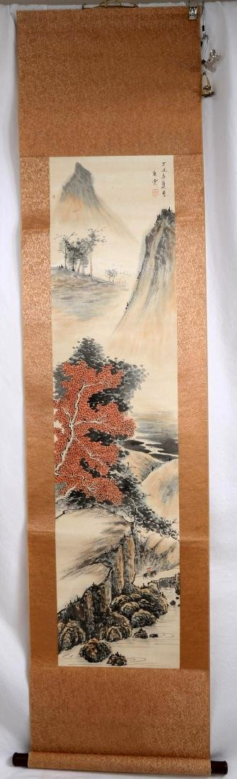 SIGNED TANG YUN (1910- ). A INK AND COLOR ON PAPER