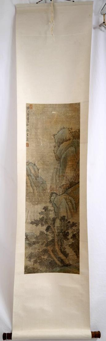 SIGNED CHEN HONGSHOU. A INK AND COLOR ON PAPER HANGING - 6