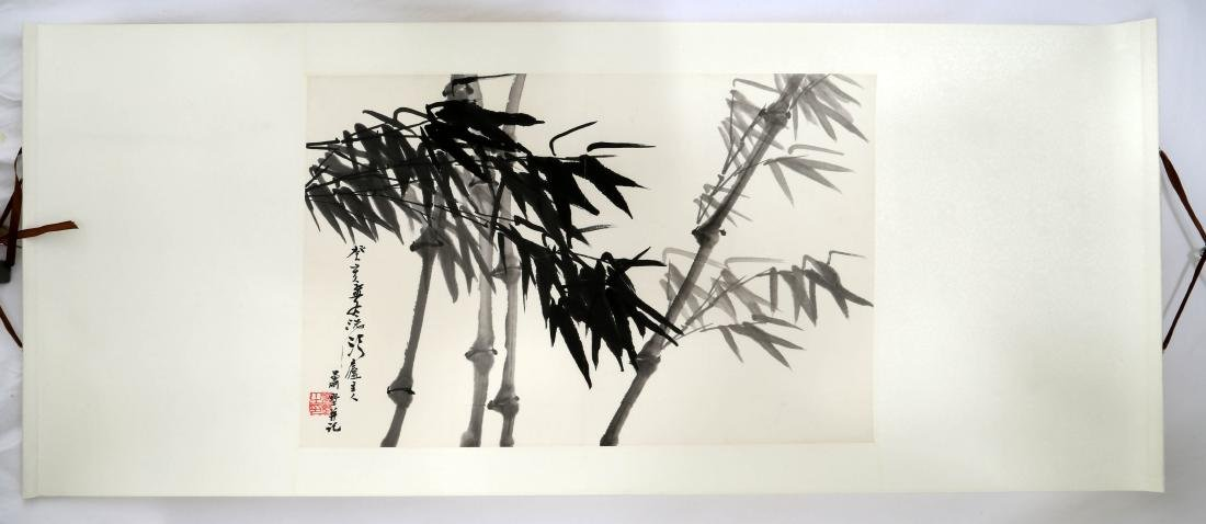 SIGNED XIAO SHU (1931- ). A INK AND COLOR ON PAPER