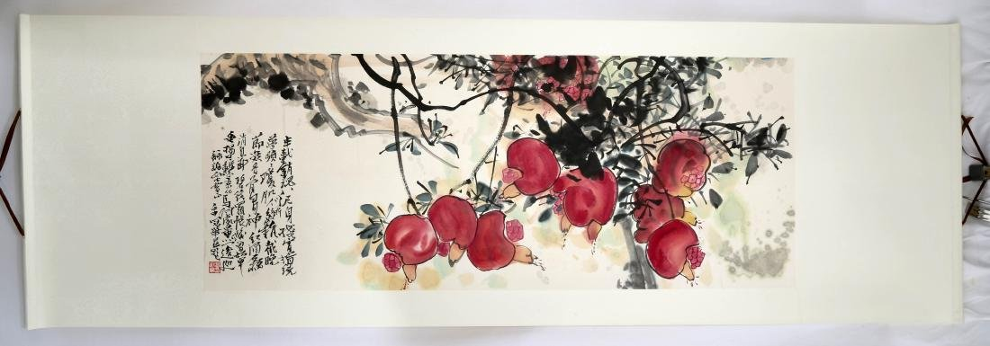 SIGNED GAO GUANHUA (1915-1999). A INK AND COLOR ON