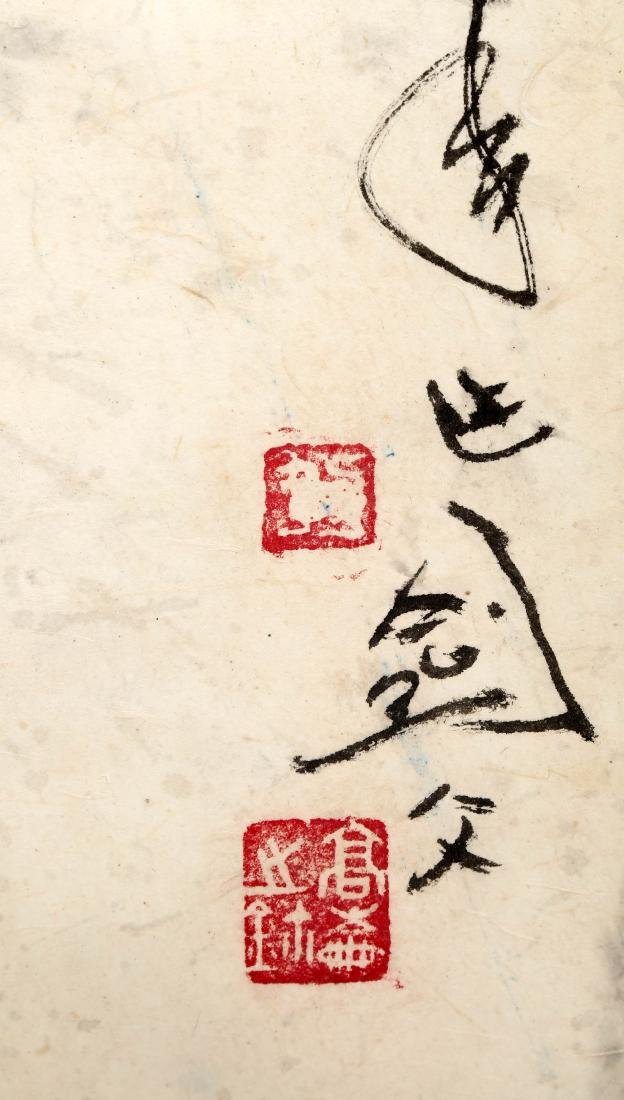 SIGNED GAO JIANFU (1879-1951). A INK AND COLOR ON PAPER - 10
