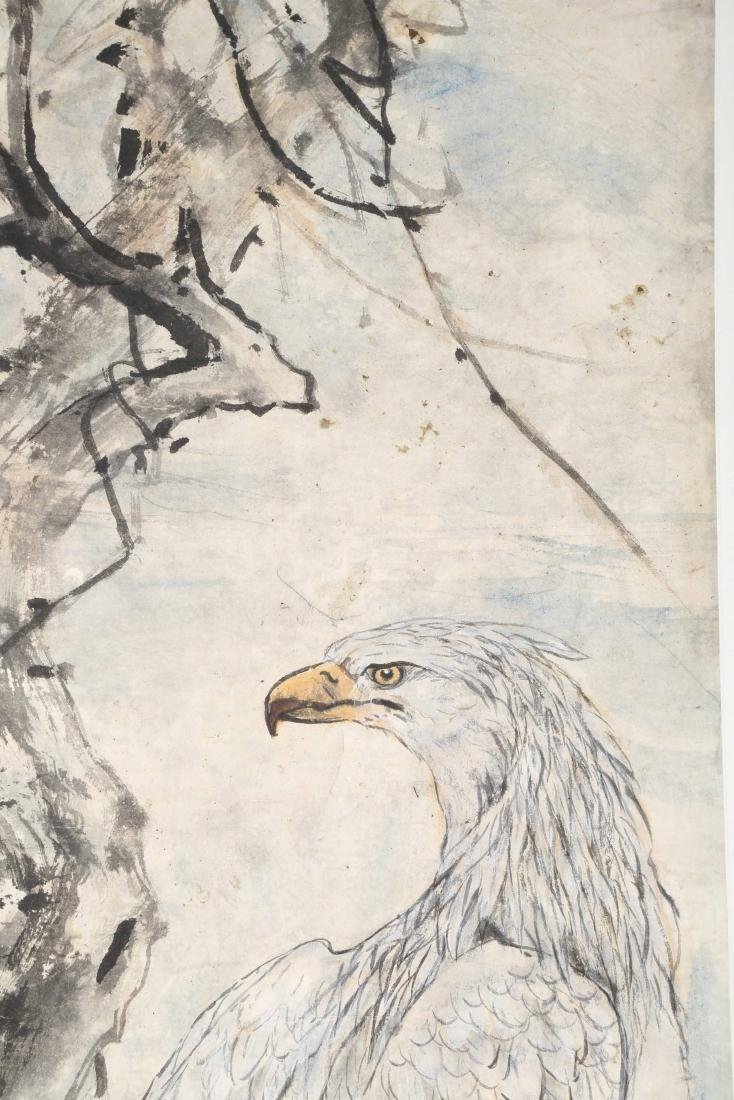 SIGNED GAO JIANFU (1879-1951). A INK AND COLOR ON PAPER - 3