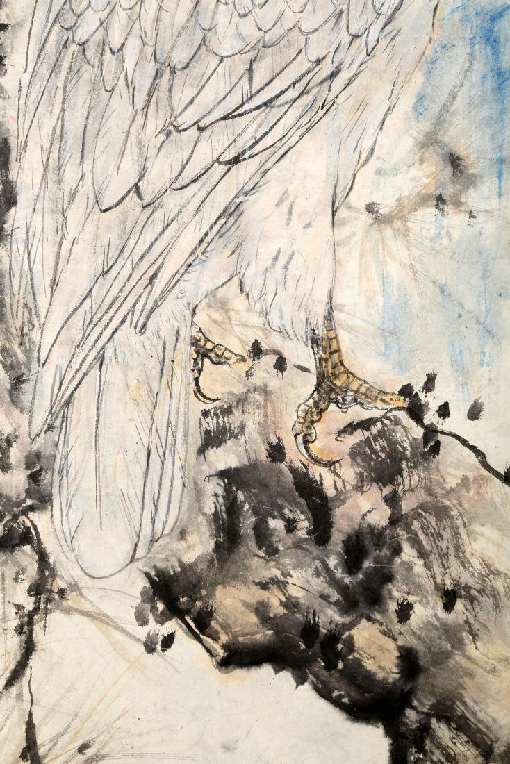 SIGNED GAO JIANFU (1879-1951). A INK AND COLOR ON PAPER - 5