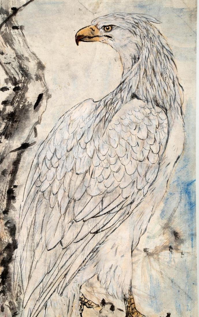 SIGNED GAO JIANFU (1879-1951). A INK AND COLOR ON PAPER - 6