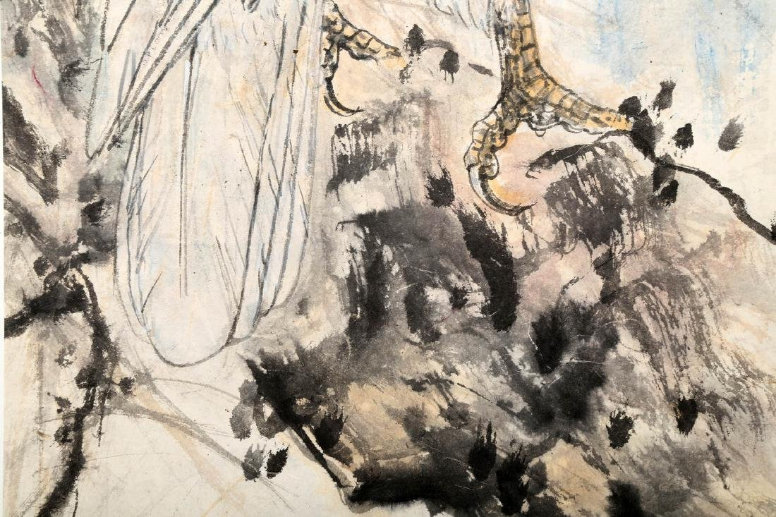 SIGNED GAO JIANFU (1879-1951). A INK AND COLOR ON PAPER - 8