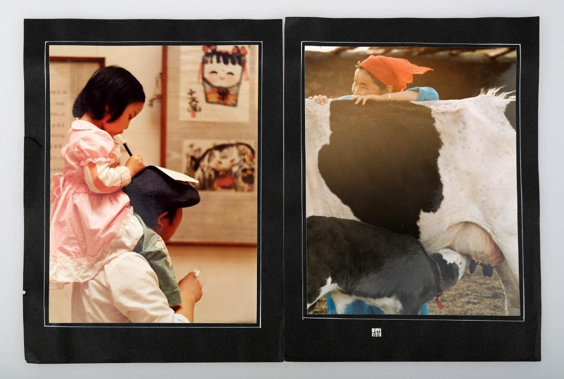 (2)  A PAIR OF CHINESE PHOTOS BY WU WEI