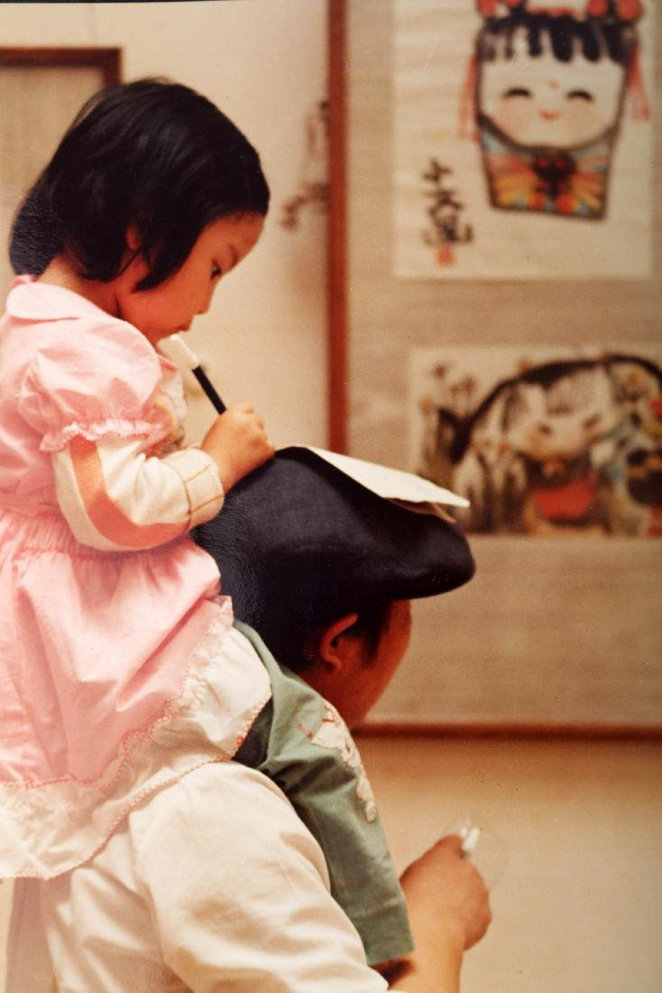 (2)  A PAIR OF CHINESE PHOTOS BY WU WEI - 3