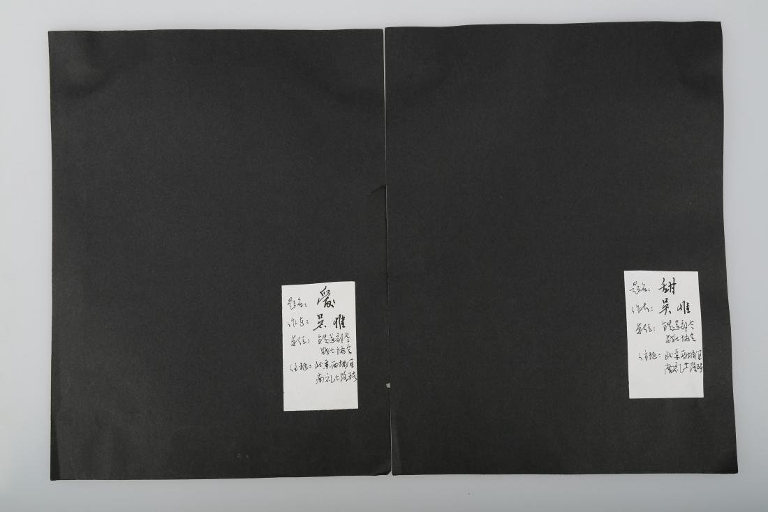 (2)  A PAIR OF CHINESE PHOTOS BY WU WEI - 6