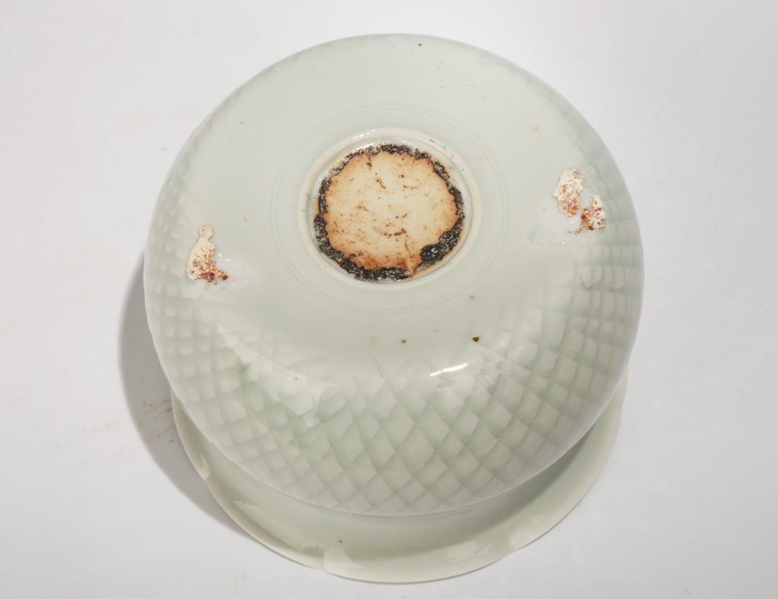 A YINGQING GLAZED COMB PATTERN CELADON PETALITE BUCCAL - 4
