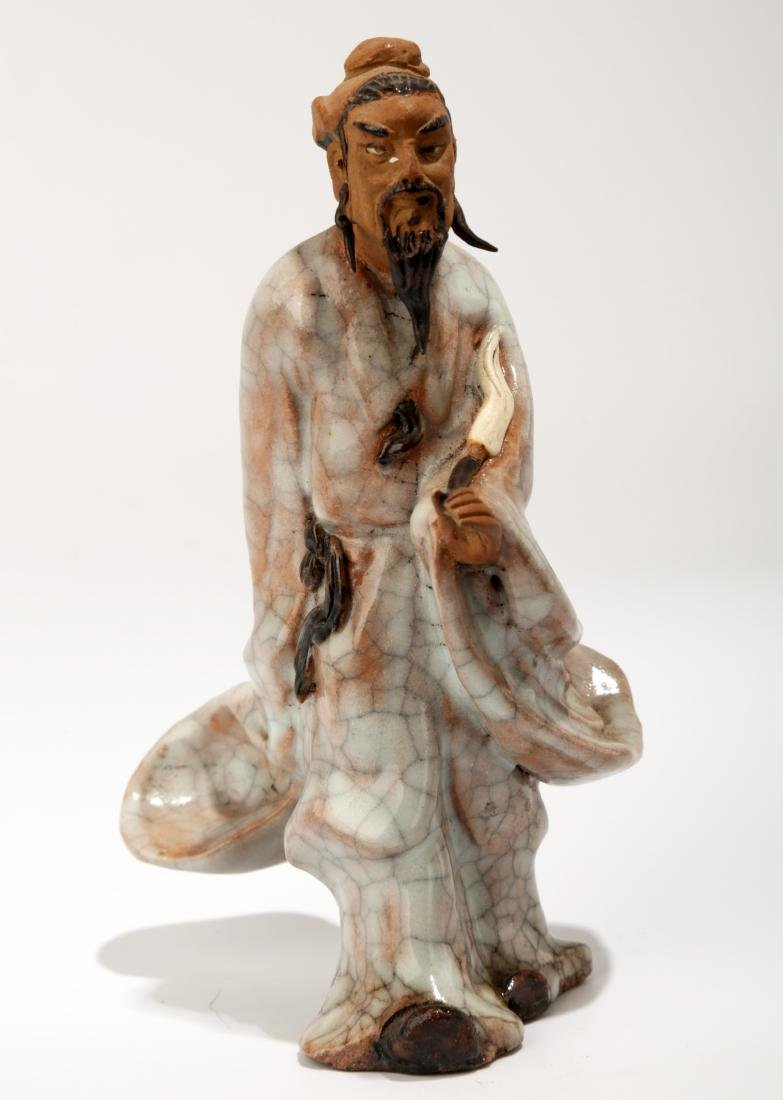 A SHIWAN SCULPTURES DEPICTING THE POET LI BAI.C047