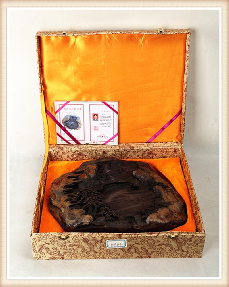 LARGE DUAN INK STONE PRODUCED BY THE WELL KNOWN