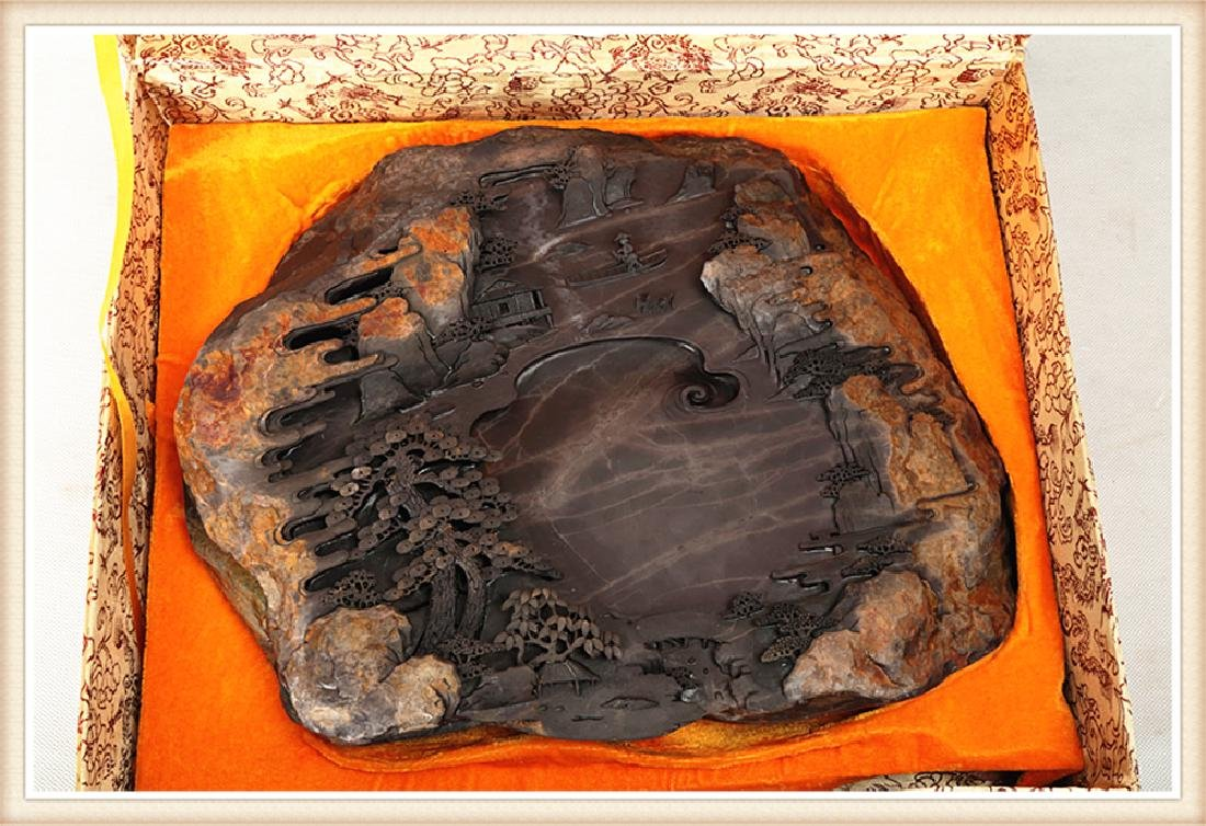 LARGE DUAN INK STONE PRODUCED BY THE WELL KNOWN - 3