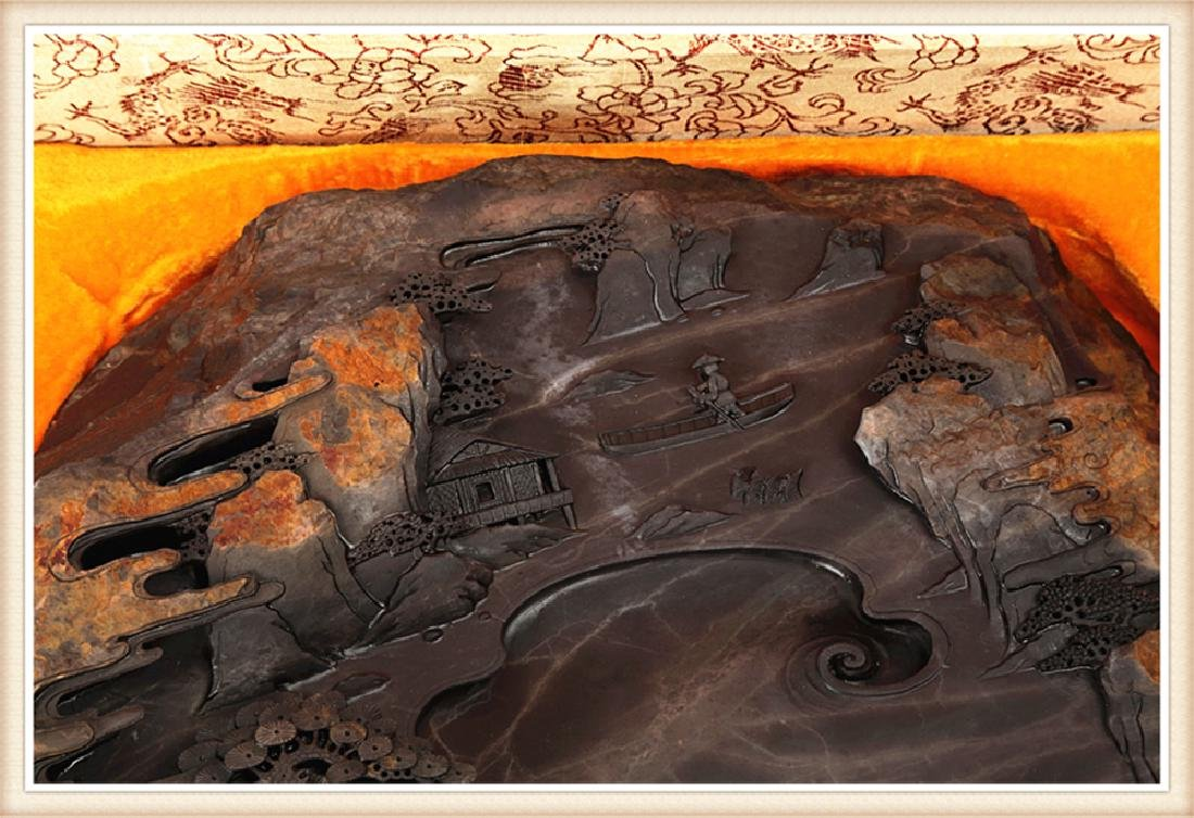 LARGE DUAN INK STONE PRODUCED BY THE WELL KNOWN - 5