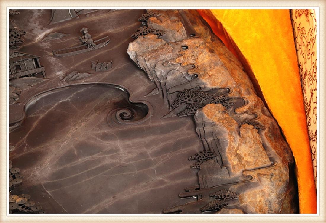 LARGE DUAN INK STONE PRODUCED BY THE WELL KNOWN - 7