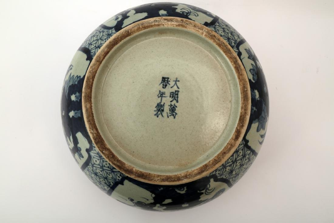 A CHINESE ROSEWOOD BRUSH POT - 7
