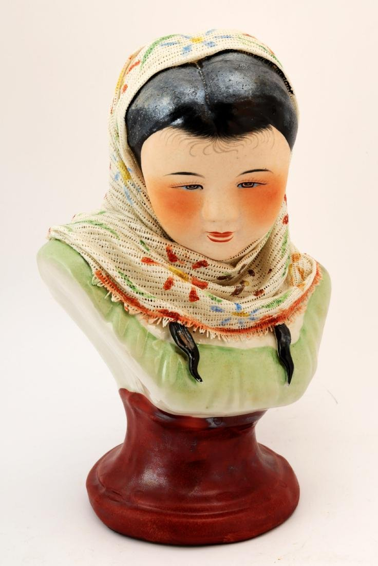 A FINE CHINESE BEAUTY PORCELAIN CARVING.