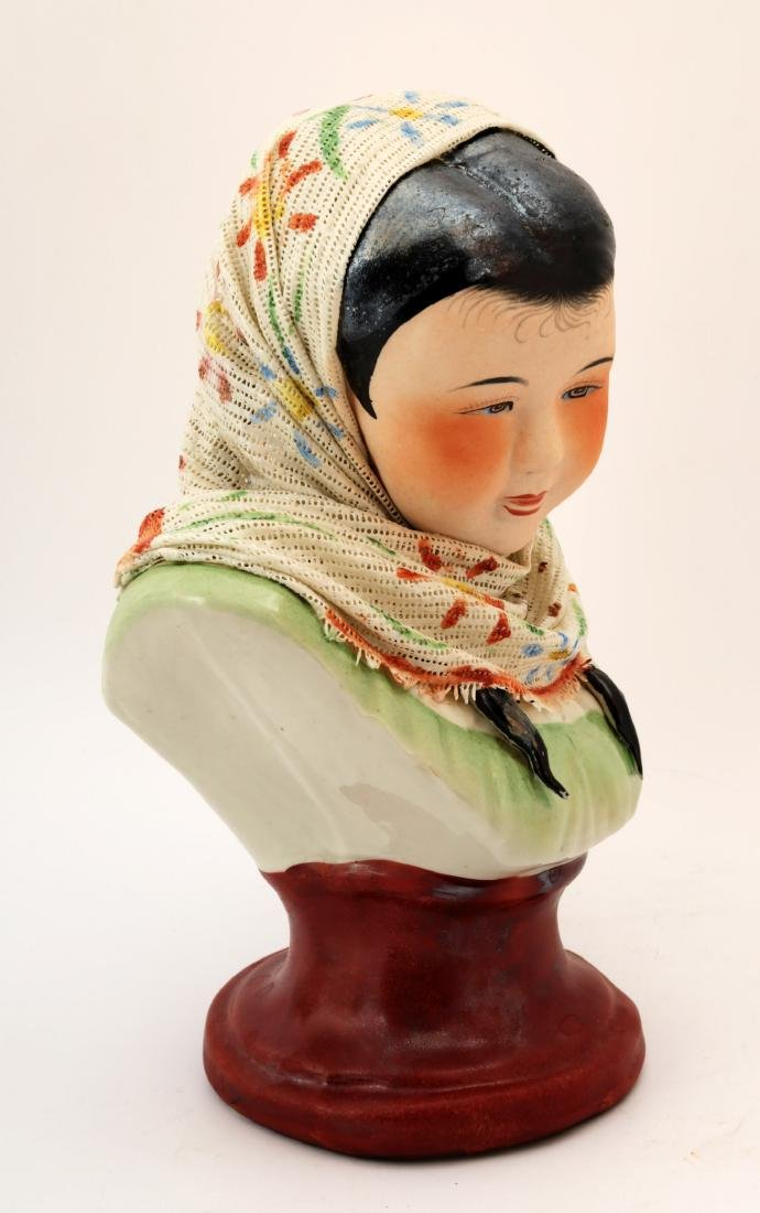 A FINE CHINESE BEAUTY PORCELAIN CARVING. - 2