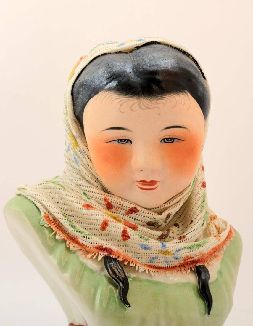A FINE CHINESE BEAUTY PORCELAIN CARVING. - 3