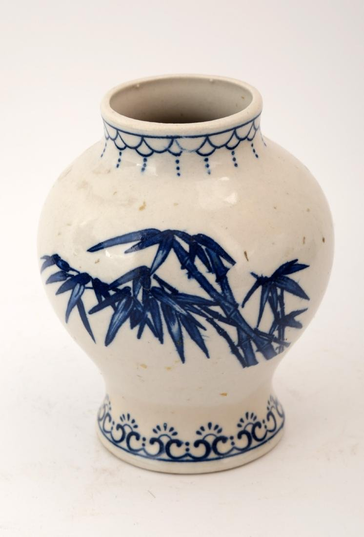 A BLUE AND WHITE THE BAMBOO SCENERY JAR