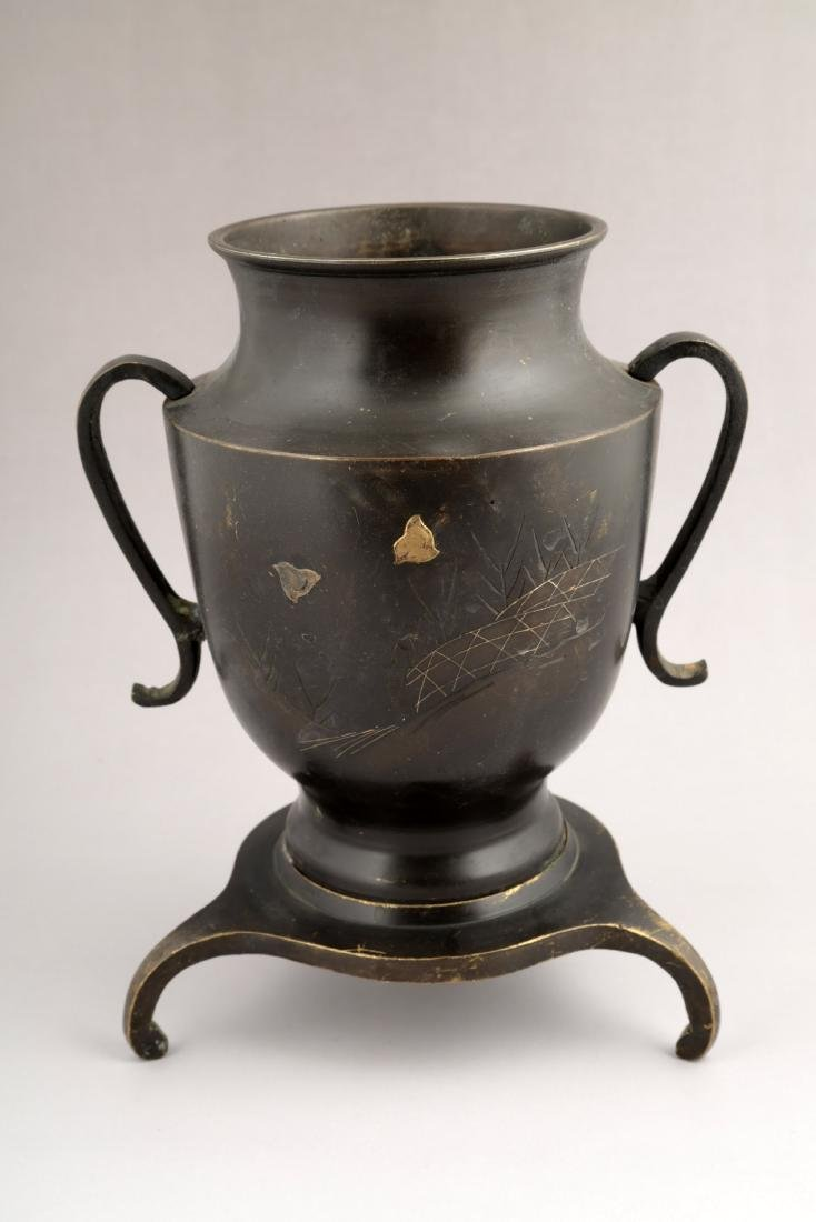 A JAPANESE COPPER ZUN-FORM VASE.