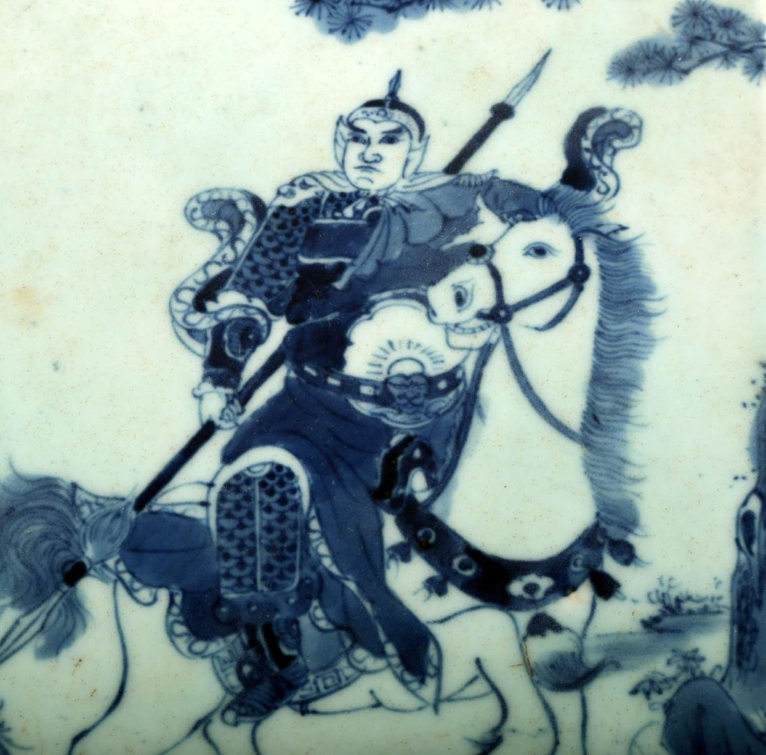 A BLUE AND WHITE VITROLITE PAINTING.C112. - 4