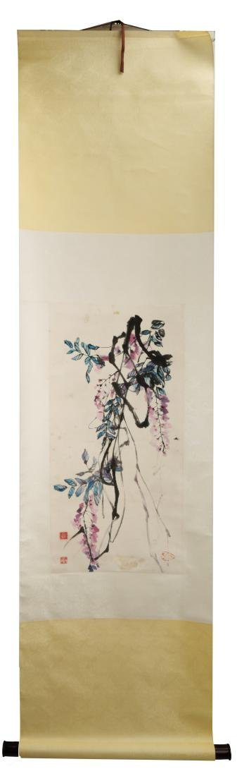 ATTRIBUTED AND SIGNED YUAN YUNFU. A INK AND COLOR ON