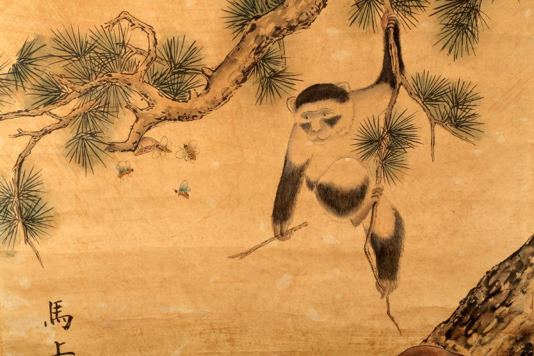SIGNED CHEN SHU(1660-1736). A INK AND COLOR ON PAPER - 3