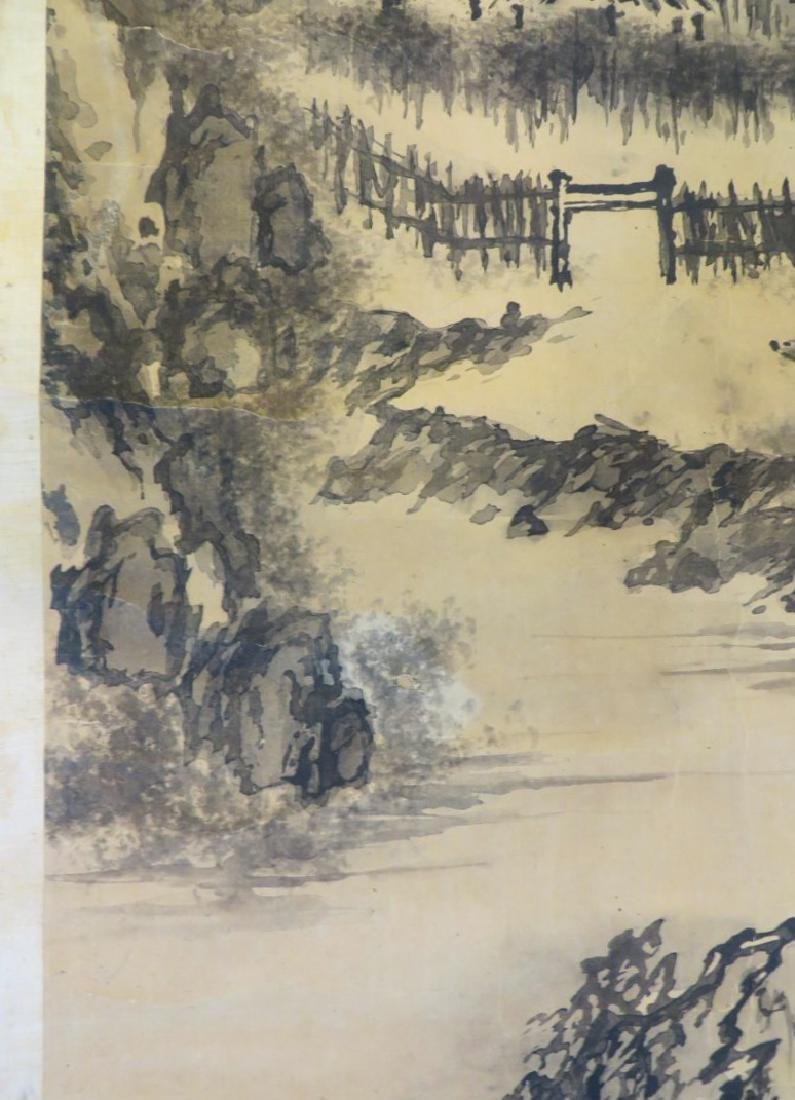 A INK AND COLOR ON PAPER HANGING SCROLL PAINTING. H197 - 4