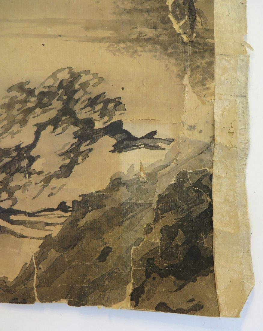 A INK AND COLOR ON PAPER HANGING SCROLL PAINTING. H197 - 8